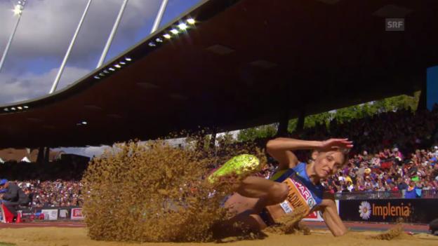 Video «LA: EM, Dreisprung Frauen, Siegessprung Saladucha» abspielen