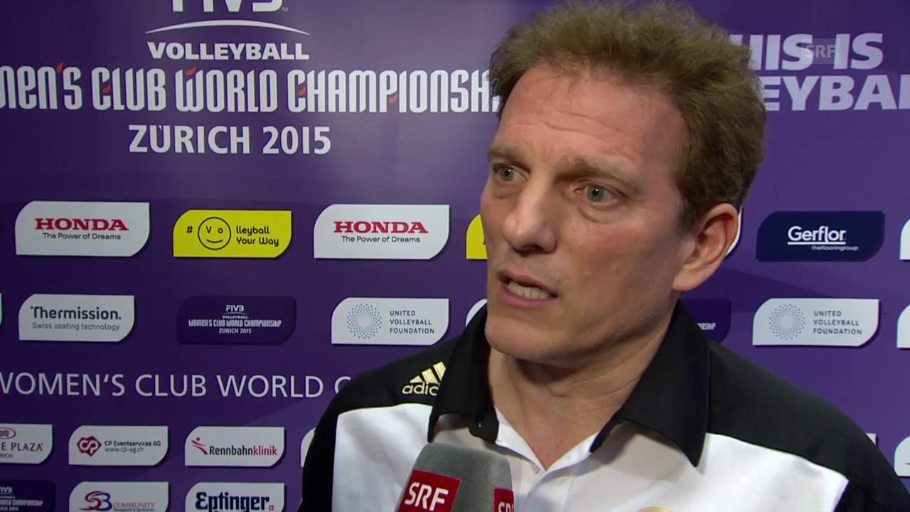Volleyball: Klub-WM, Volero - Rio de Janeiro, Interview Selinger