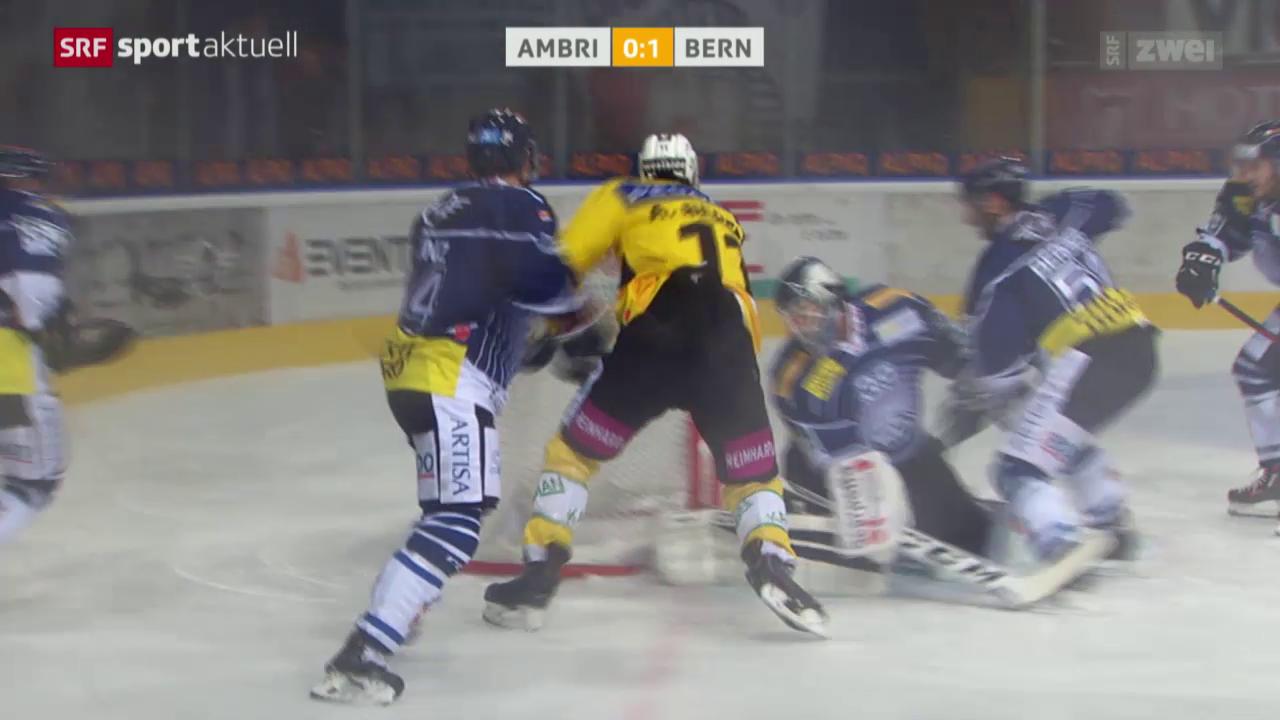 Eishockey: NLA, Ambri - Bern