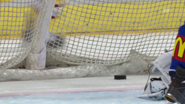 Video «Eishockey: Playoff-Halbfinal, 5. Runde, ZSC-Genf, 4:1 Bezina» abspielen