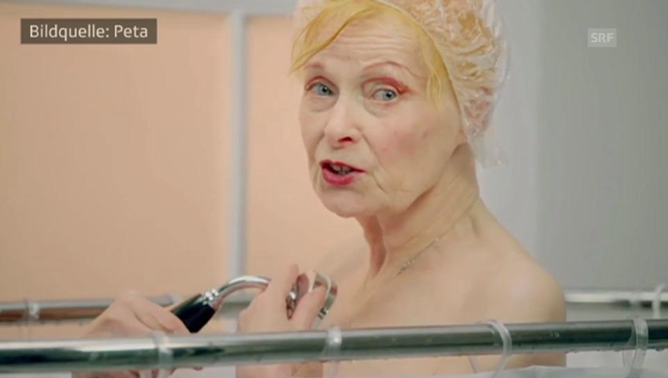 Vivienne Westwood unter der Dusche