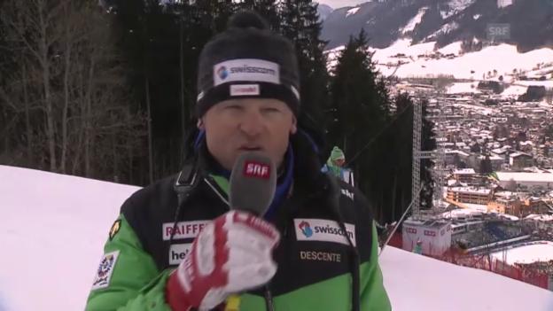 Video «WM-Abfahrt: Interview Hans Flatscher» abspielen