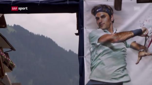 Video «Gstaad ist bereit für Roger Federer («sportpanorama»)» abspielen