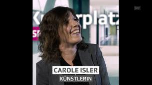 Video «Carole Isler, für «Hallo SRF!» beim Kulturplatz» abspielen