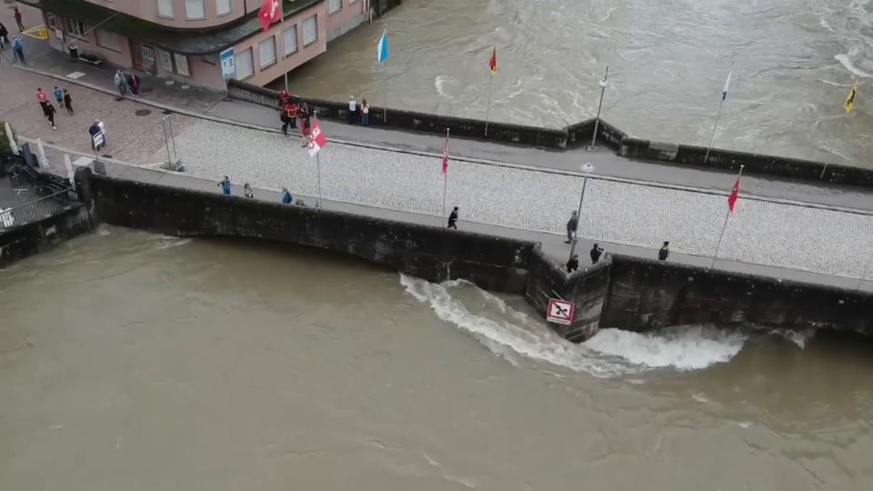 Hochwasser in Rheinfelden/AG, Rafael Steiger