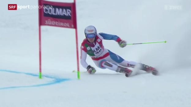 Video «Ski: Die Schweizer beim Riesenslalom in Alta Badia» abspielen