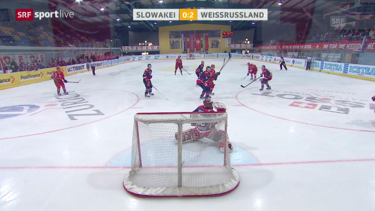 Eishockey: Arosa Challenge, Slowakei - Weissrussland