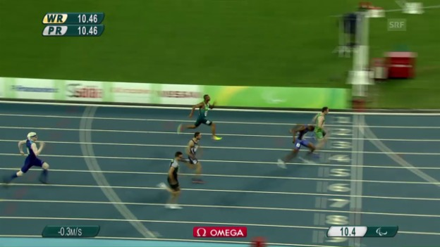 Video «Der 100-m-Lauf von Philipp Handler» abspielen