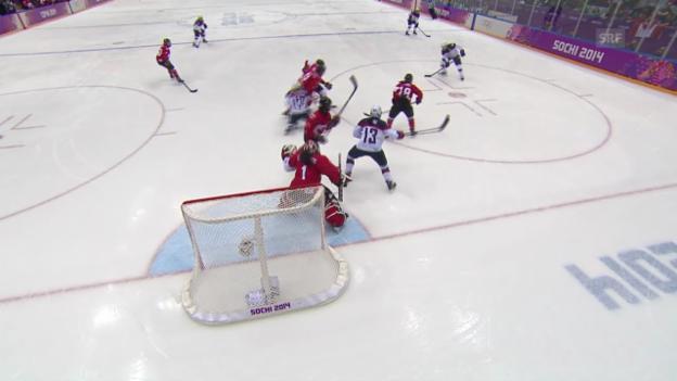 Video «Eishockey: Tore Kanada - USA (unkomm.)» abspielen