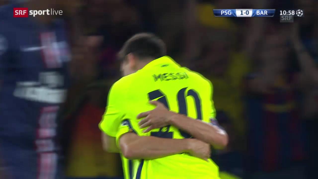 Fussball: das schöne 1:1 von Barcelona gegen PSG