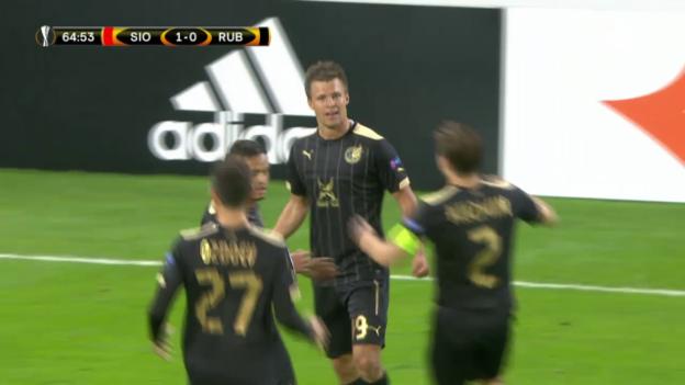 Video «Fussball: EL, Sion - Kasan, Tor Kasan zum 1:1» abspielen