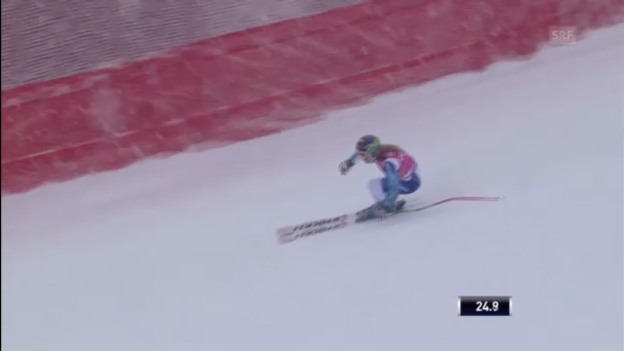 Video «Ski Alpin: Super G von Fränzi Aufdenblatten in Cortina («sportlive»)» abspielen