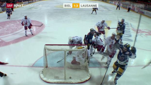 Video «Eishockey: NLA, Biel - Lausanne» abspielen