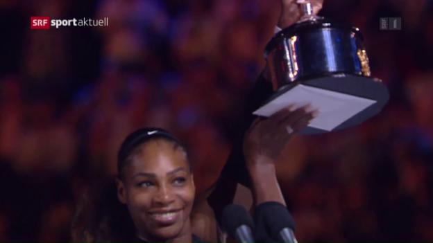 Video «23. GS-Titel: Serena gewinnt das Williams-Duell» abspielen