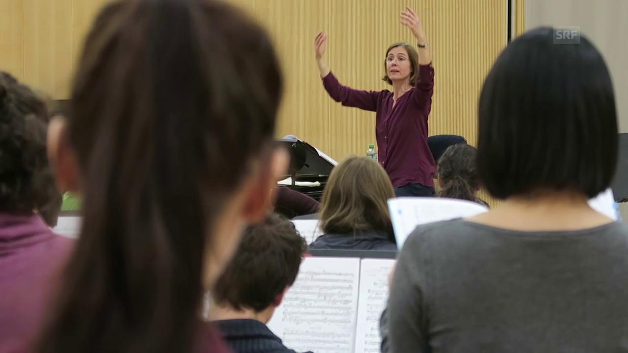 Luzerner Akademiechor bei der Probe