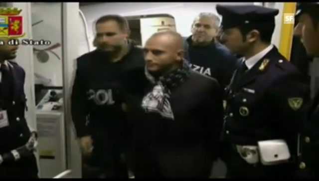 Festnahme von Almir Gegic in Mailand (Polizeivideo ohne Ton)