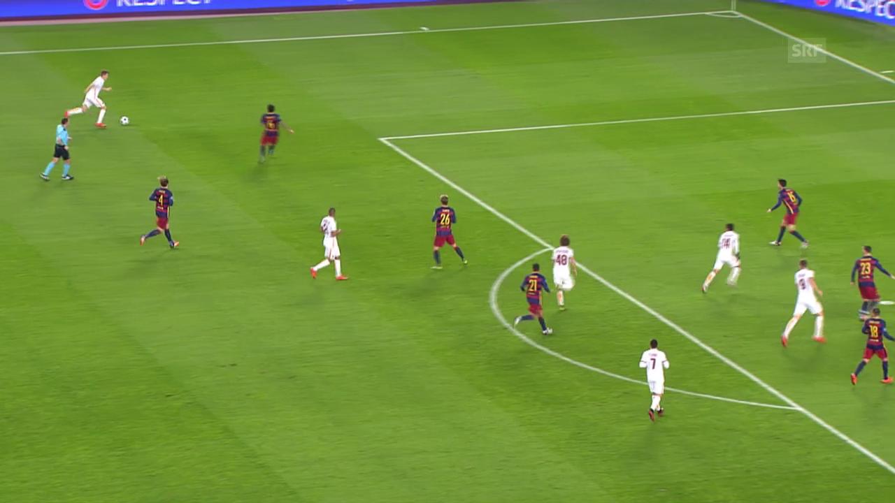 Fussball: Champions League, Barcelona-Roma, 6:1 Dzeko