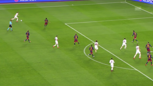 Video «Fussball: Champions League, Barcelona-Roma, 6:1 Dzeko» abspielen
