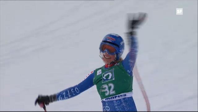 Hochs und Tiefs in St.Moritz: Lara Gut und Fabienne Suter