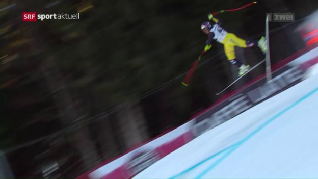 Video «Heftige Stürze überschatten Garmisch-Abfahrt» abspielen