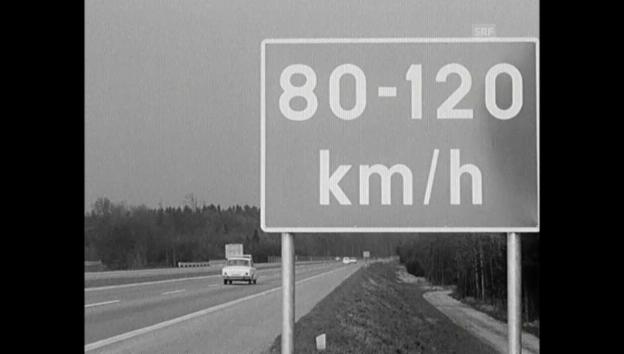 Video «7. April 1965: Richtgeschwindigkeit statt Höchsttempo» abspielen