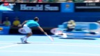 Video «Tennis: Australian Open, Federer - Paire» abspielen