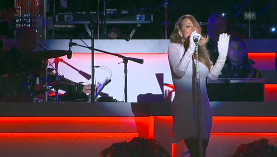 Mariah Carey beehrt die Weihnachts-Show im Weissen Haus