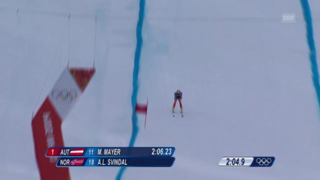 Video «Sotschi: Ski, Abfahrt Männer, Fahrt Svindal» abspielen