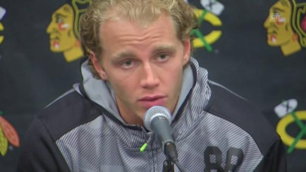 Video «Eishockey: Medienkonferenz Patrick Kane» abspielen