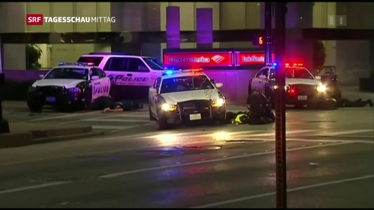Schüsse auf Polizisten in Dallas