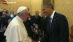 Video «Obama zu Besuch beim Papst» abspielen