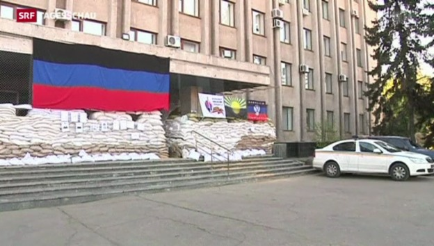 Video «Pro-russische Milizen wollen Gefangenentausch» abspielen