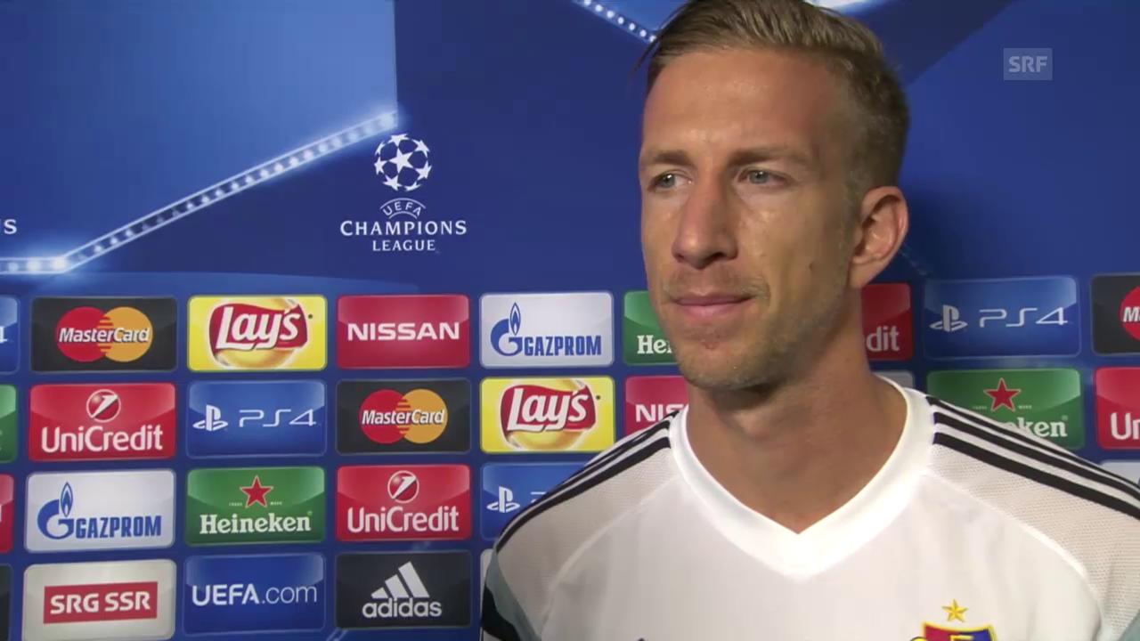 Fussball: Basel-Maccabi, Interview Janko