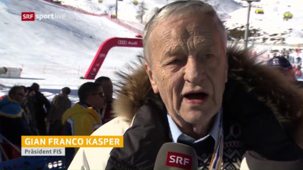 Video «FIS-Präsident Gian-Franco Kasper blickt zurück» abspielen
