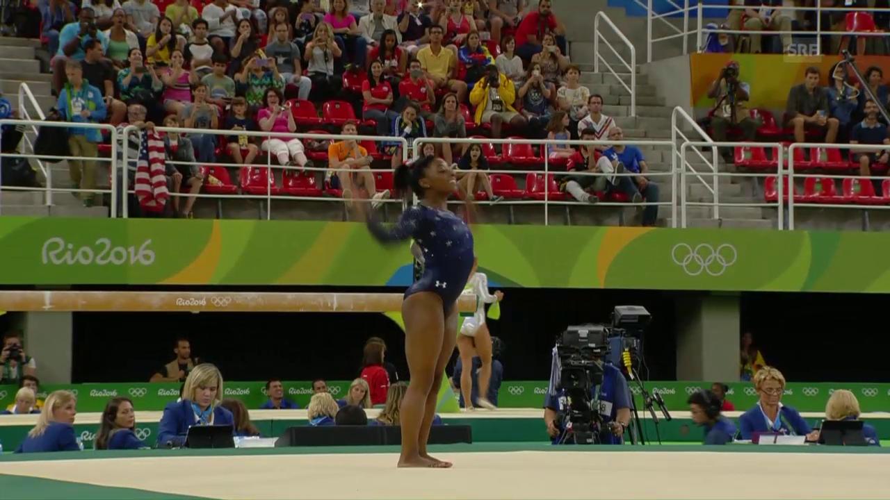 Simone Biles dominiert die Qualifikation