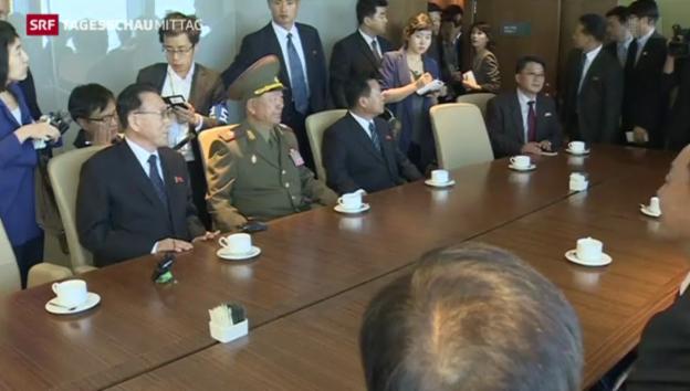 Video «Besuch von Nordkoreanern in Südkorea» abspielen