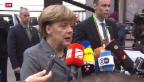 Video «EU-Gipfel: Merkel trifft Tsipras» abspielen