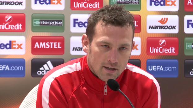 Video «Markus Weinzierl spricht über die anstehende Partie gegen Liverpool» abspielen