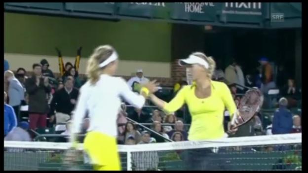 Video «Tennis: Vögele schlägt Wozniacki (unkommentiert)» abspielen