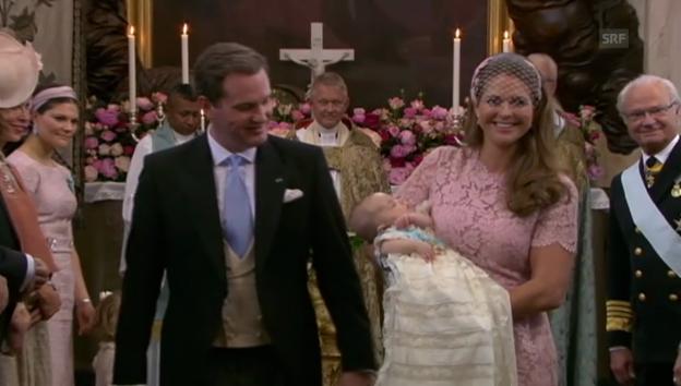 Video «Feierliche Taufe für Prinzessin Leonore (unkommentiert)» abspielen