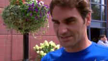 Video «Tennis: Roger Federer über seine Geschichte bei den US Open» abspielen