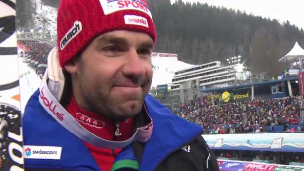 Video «WM-Abfahrt: Interview Didier Défago» abspielen