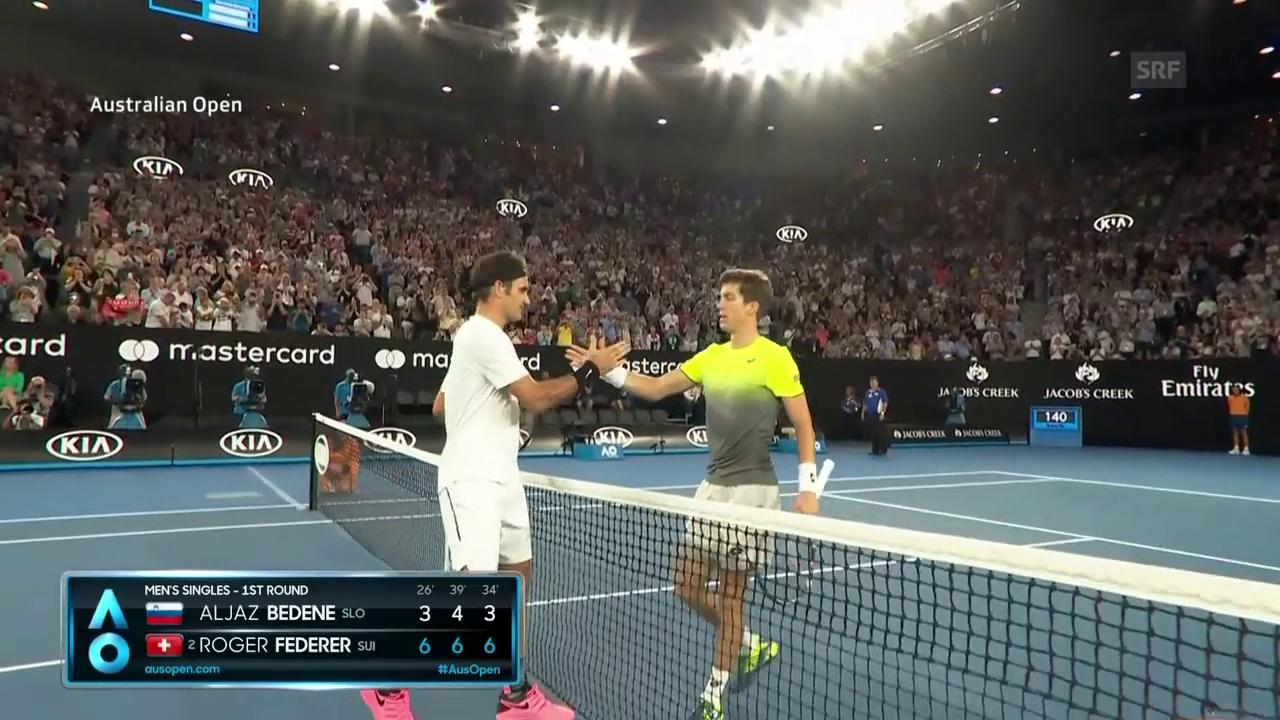 Die Live-Highlights bei Federer - Bedene