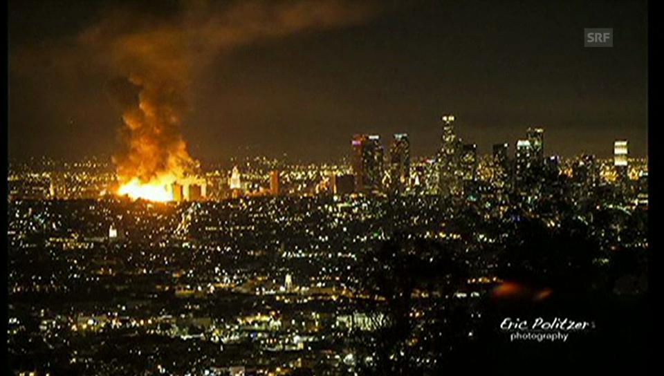 Flammen-Inferno mitten in LA