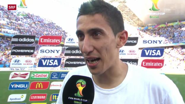 Video «Schweiz - Argentinien: Interview mit Angel Di Maria» abspielen