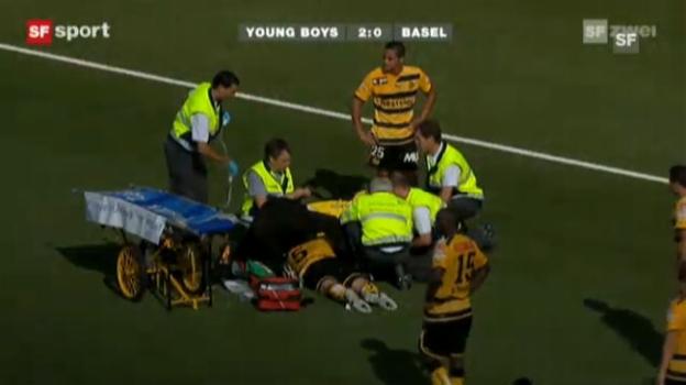 Video «Dudar-Unfall schockt Fussball-Fans» abspielen
