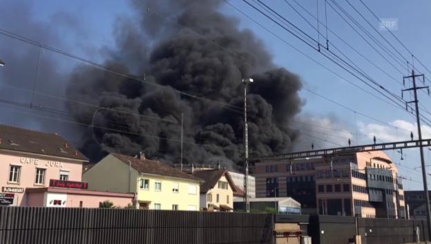 Video «Brand und Explosion in Olten (unkomm.)» abspielen
