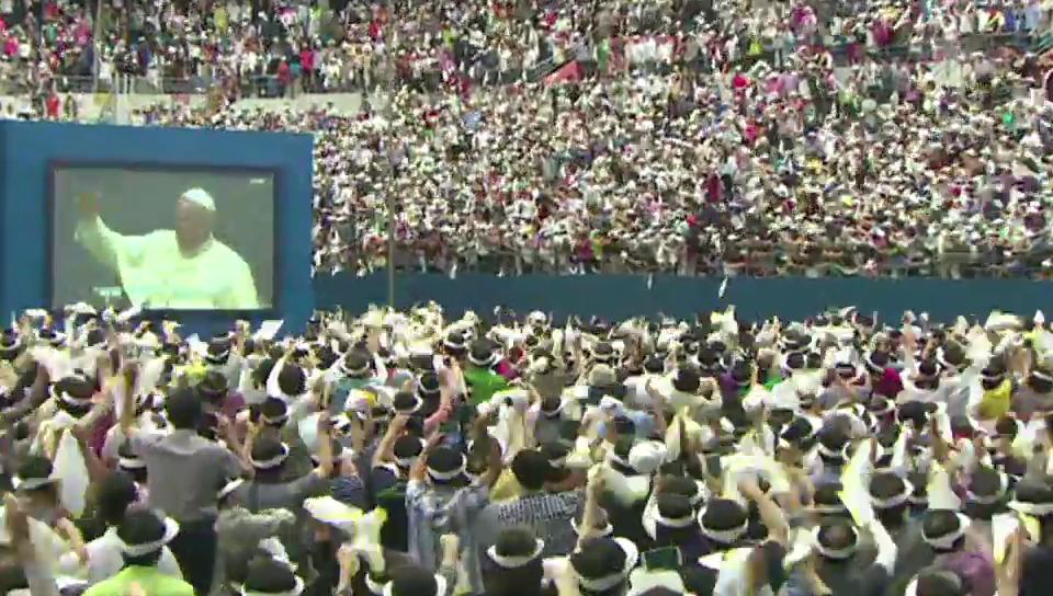 Südkoreaner begrüssen Franziskus mit «Viva Papa»