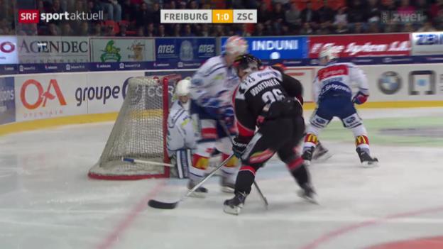 Video «Eishockey: Freiburg - ZSC Lions» abspielen