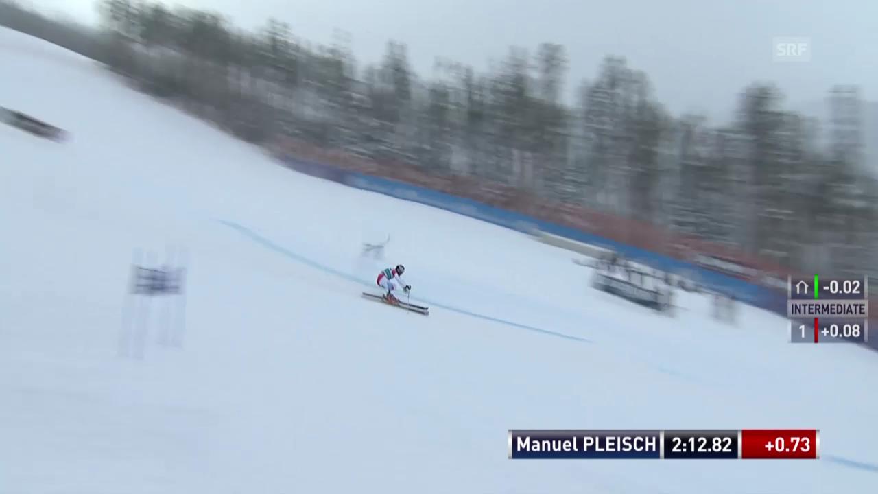 Ski: Manuel Pleischs 2. Lauf in Beaver Creek